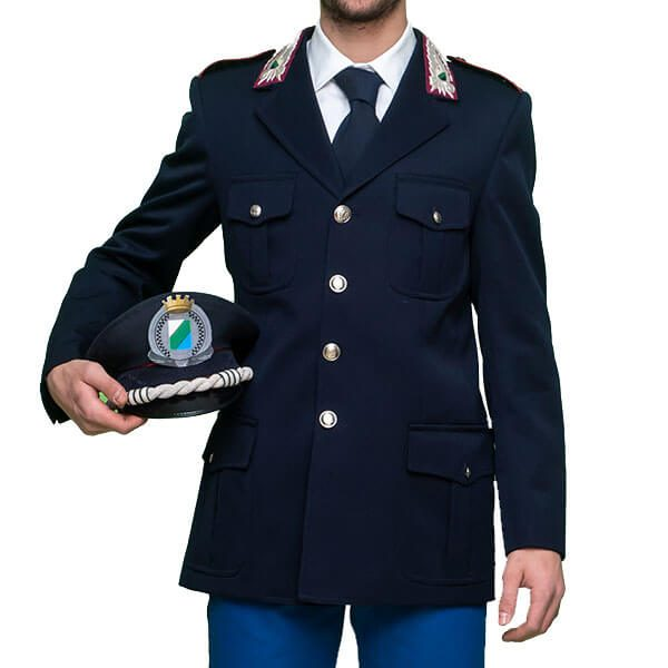 giacca uomo numero 1 sulla spalla
